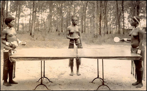 Nudist ping pong was